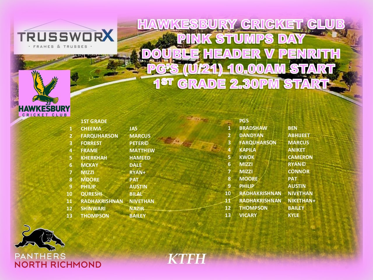 HAWKS NAME SQUAD FOR 1ST GRADE & POIDEVIN GRAY T20 DOUBLE HEADER SUNDAY 24TH NOVEMBER
